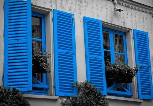 Classic French Shutters in Blue Color
