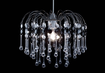 Tips on how to redecorate on a budget 5 - crystal-pendant-black