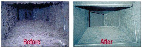 Air Duct Cleaning - Before and After