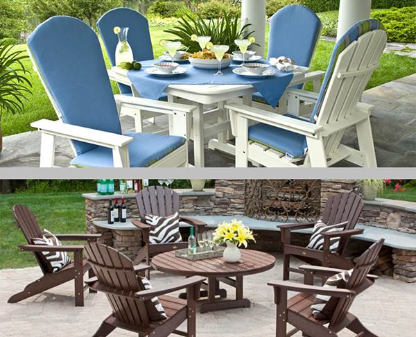 Two Sets of Eco-friendly Polywood Outdoor Chairs