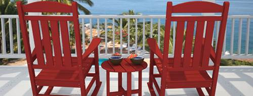 Two Closely Placed Relaxing Chairs on a Home Deck